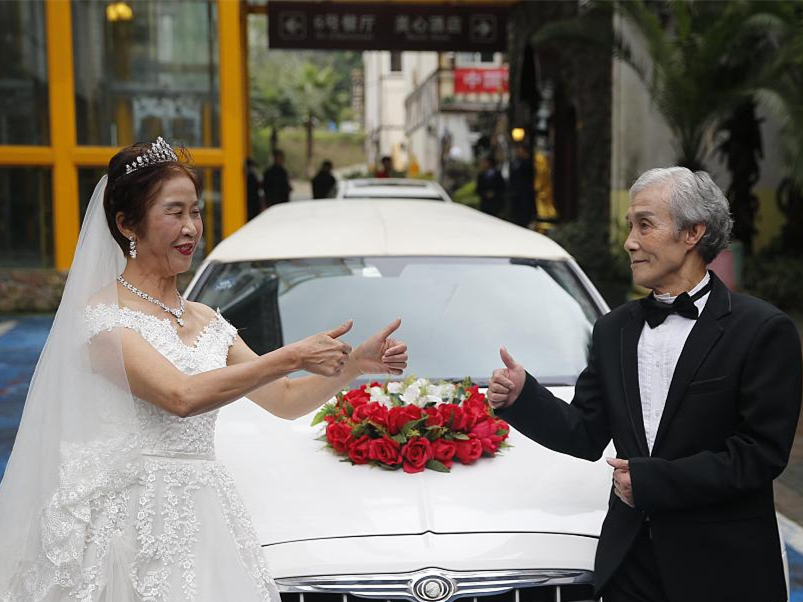 'Mute' wedding touches people's heart in Chongqing