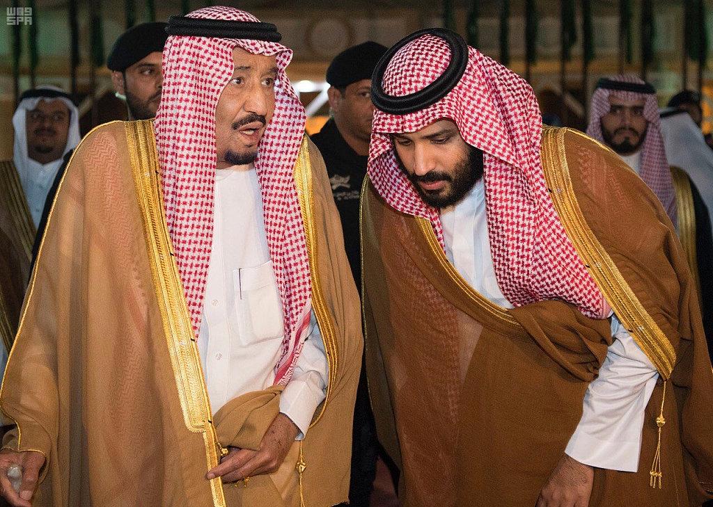 Saudi Arabia's King Salman and Crown Prince Mohammed bin Salman.jpg
