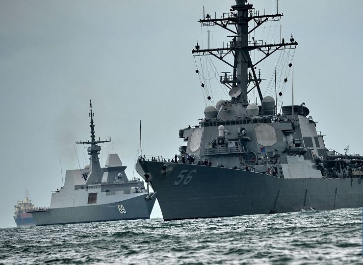 China expresses concern to US over warship passage through Taiwan Strait
