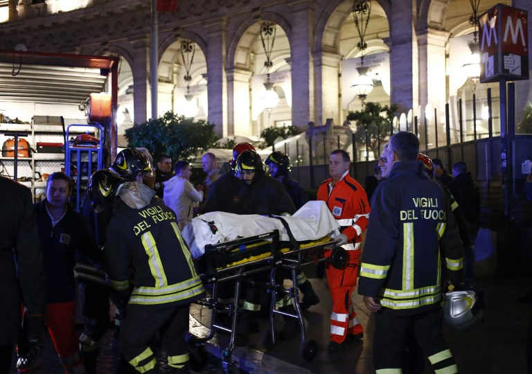 Over 20 Russian football fans injured in Rome metro escalator collapse