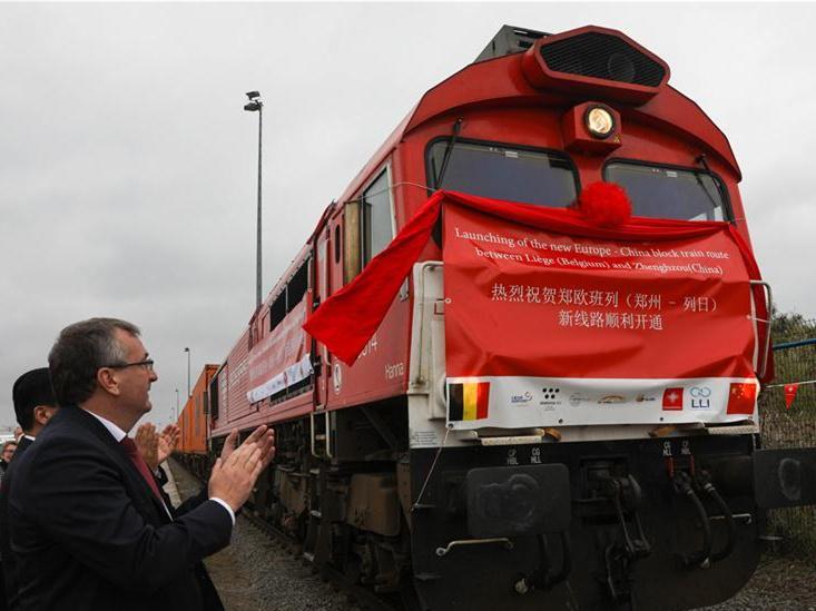 China, Belgium launch new cargo train route