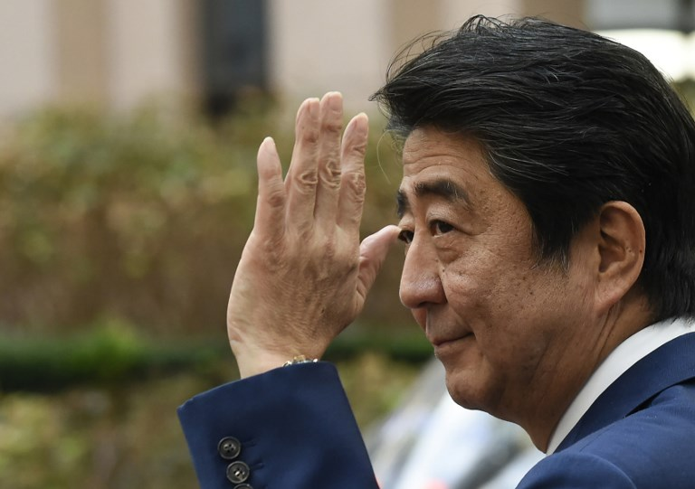 Japan's Prime Minister arrives in Beijing for a three-day official visit