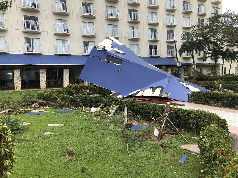 Residents in the Pacific ravaged by Super Typhoon Yutu