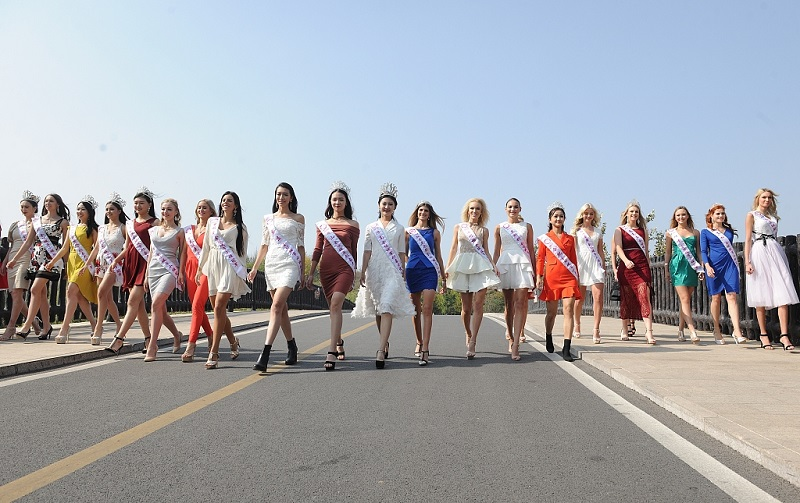 Candidates of Miss City 2018 gather in Wild World Zoo in east China