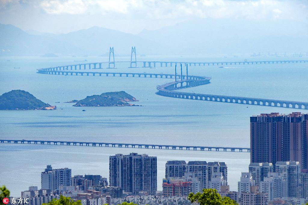 Snapshots of the Hong Kong-Zhuhai-Macao Bridge