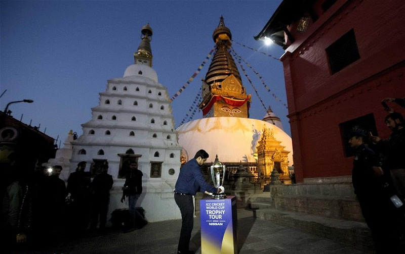 ICC World Cup trophy arrives for tour in Kathmandu, Nepal