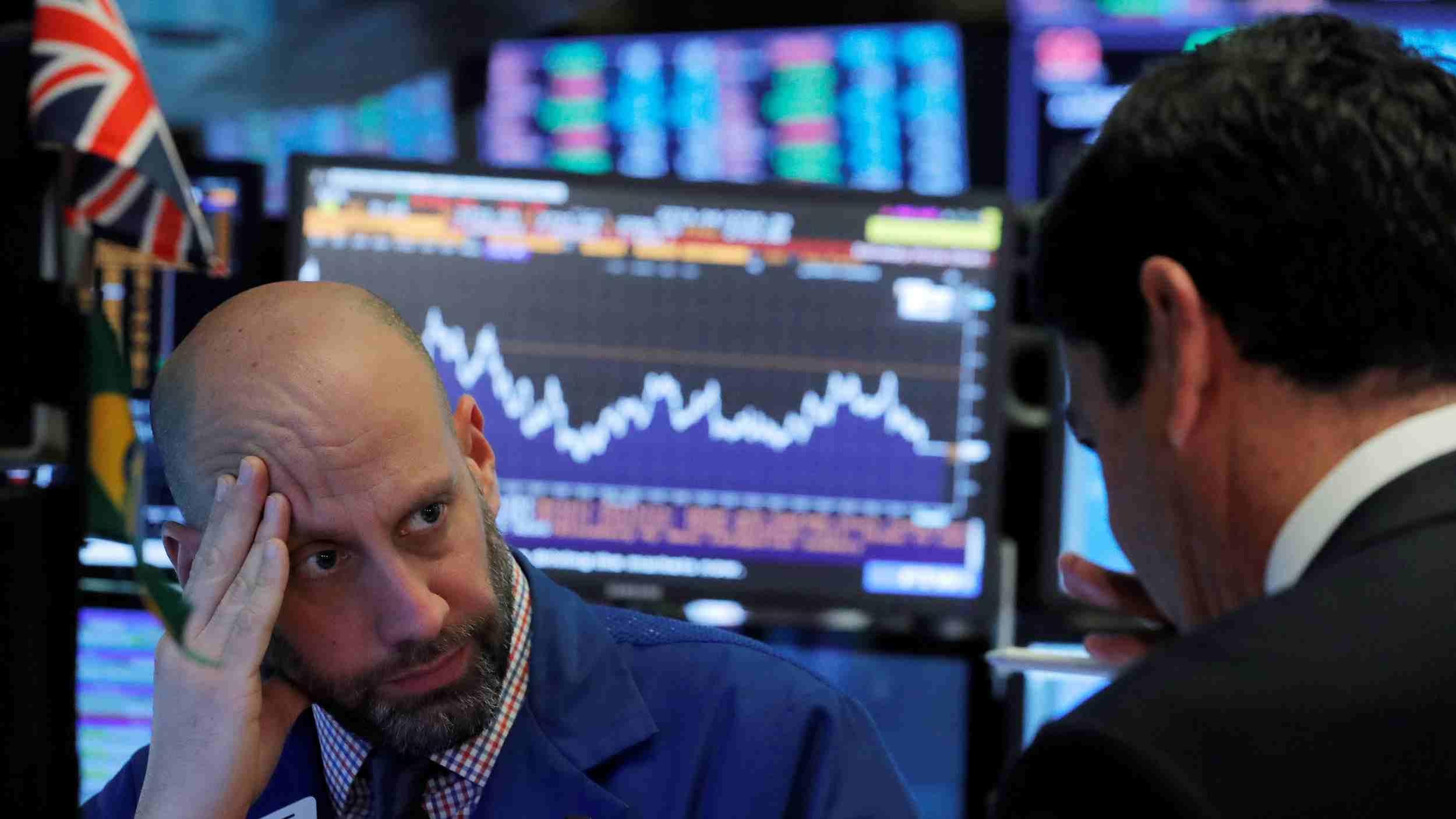 US stock markets slump as volatile week ends with tech selloff