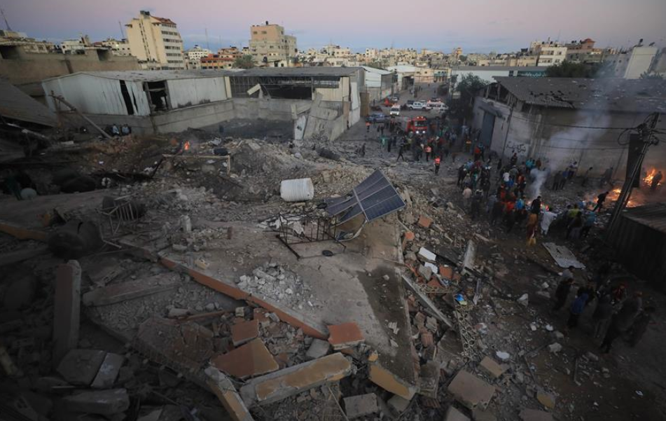 Israel conducts large-scale strike on roughly 80 Hamas targets across Gaza Strip