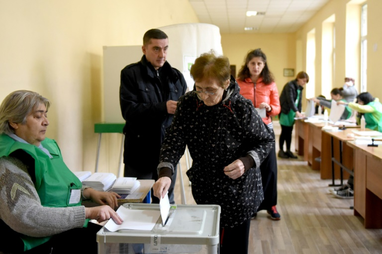 Georgia ruling party faces test in presidential vote