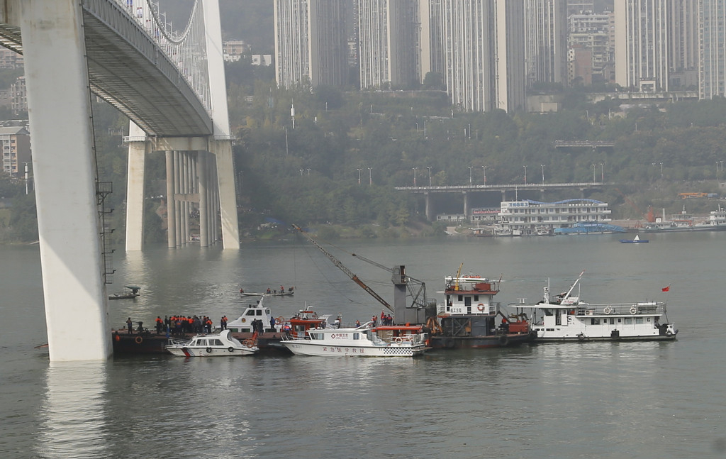 Location of bus plunging into river in Chongqing confirmed