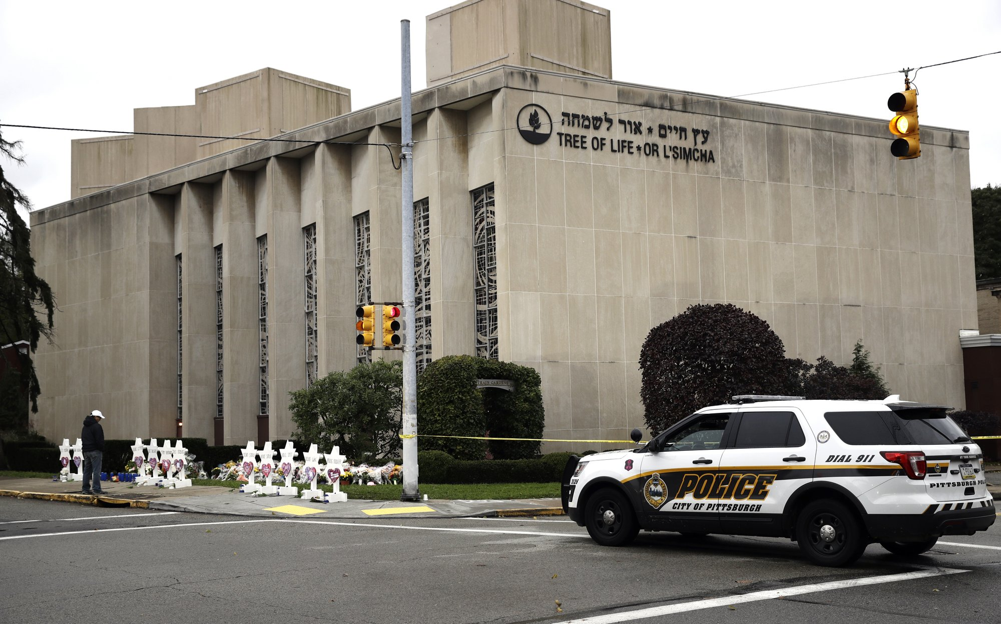 Synagogue massacre defendant appears in court in wheelchair