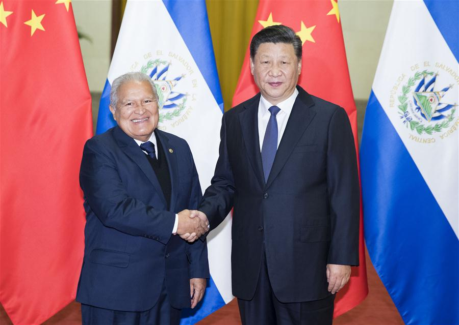 Xi holds talks with El Salvador president, urging solid basis to boost cooperation