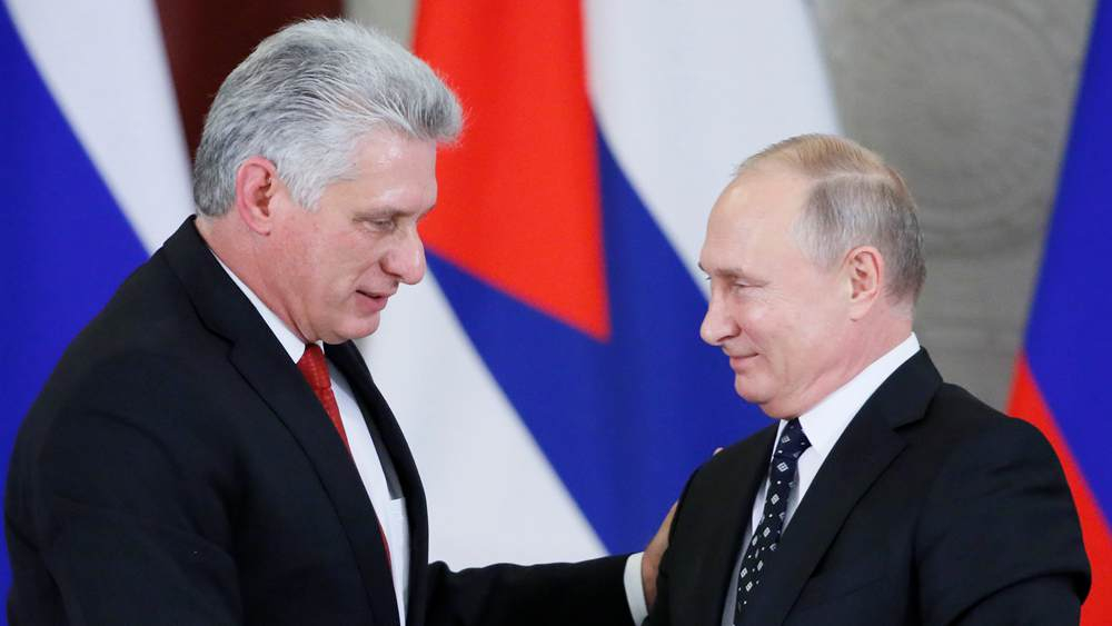 Putin meets new Cuban leader on first Moscow visit