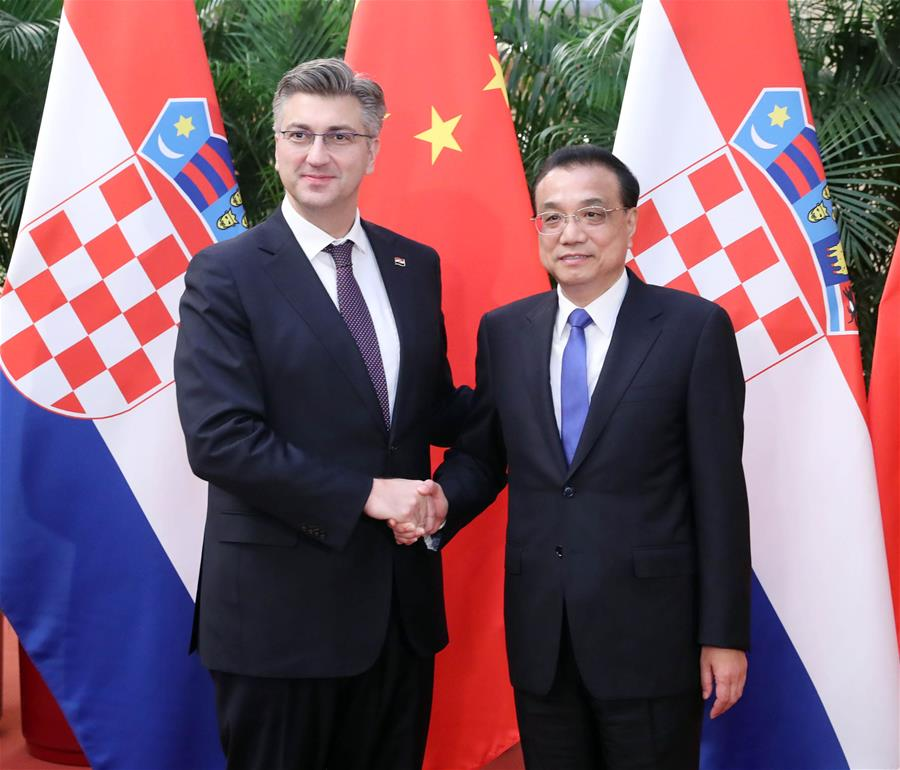 China vows to enhance enterprise cooperation with Croatia