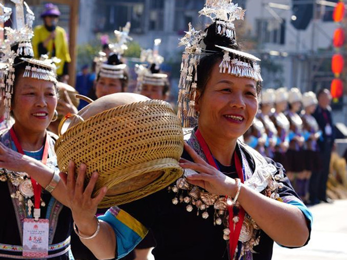 Activities held to celebrate harvest in China's Guangxi