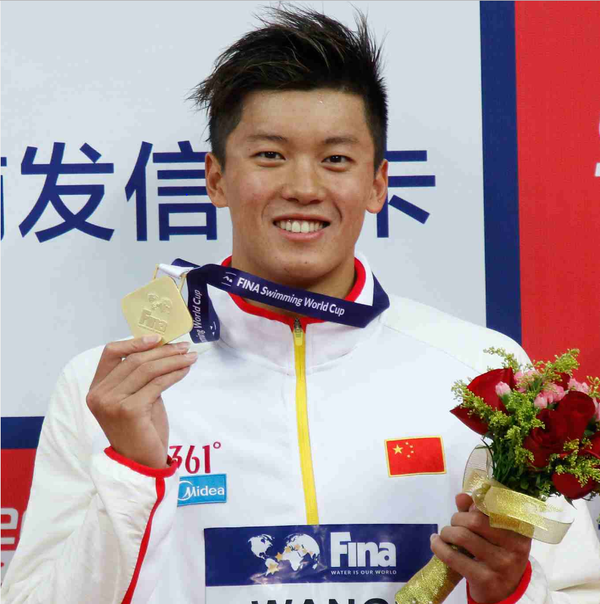 Xu Jiayu leads Team China at the FINA Swimming World Cup