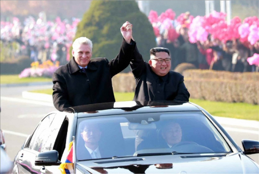 Cuban president meets North Korea's Kim Jong-un in Pyongyang