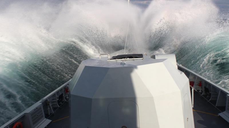 Frigate Qinhuangdao conducts maritime training