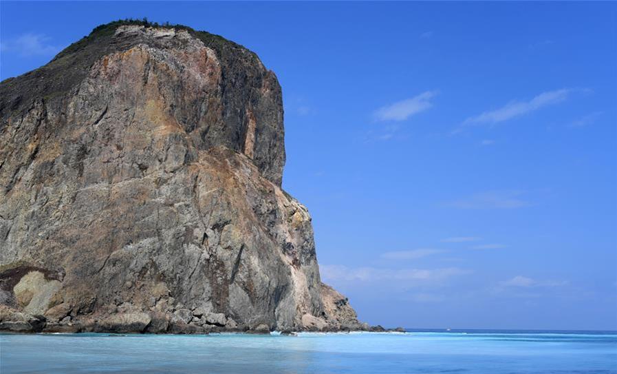 Scenery of Kueishan island in southeast China's Taiwan
