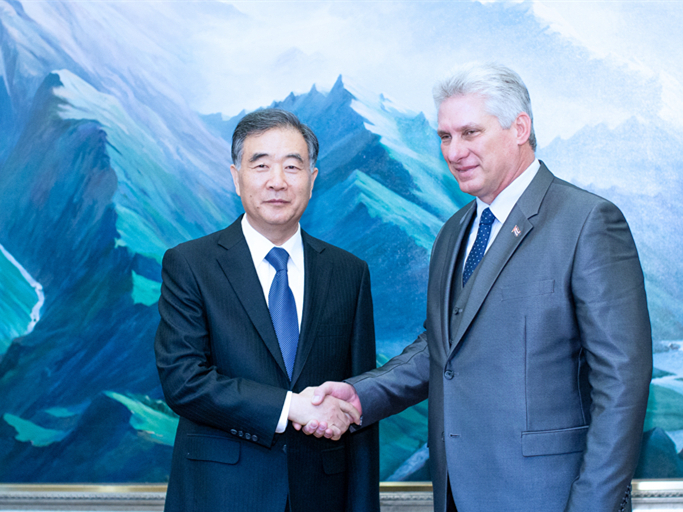 China's top political advisor meets Cuban president