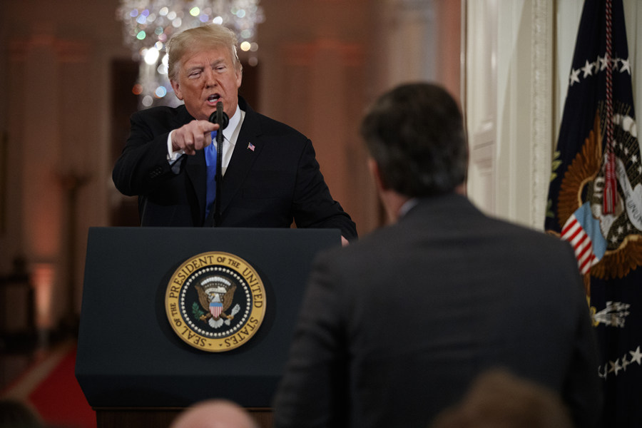 Video: White House bars CNN reporter after heated Trump exchange