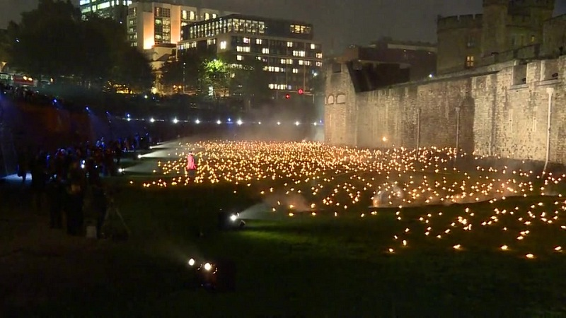 WWI Centenary Commemoration at the Tower of London