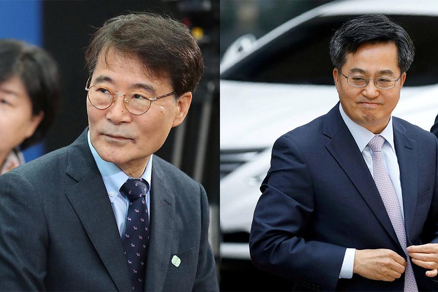 S. Korea's Moon sacks finance minister, policy chief