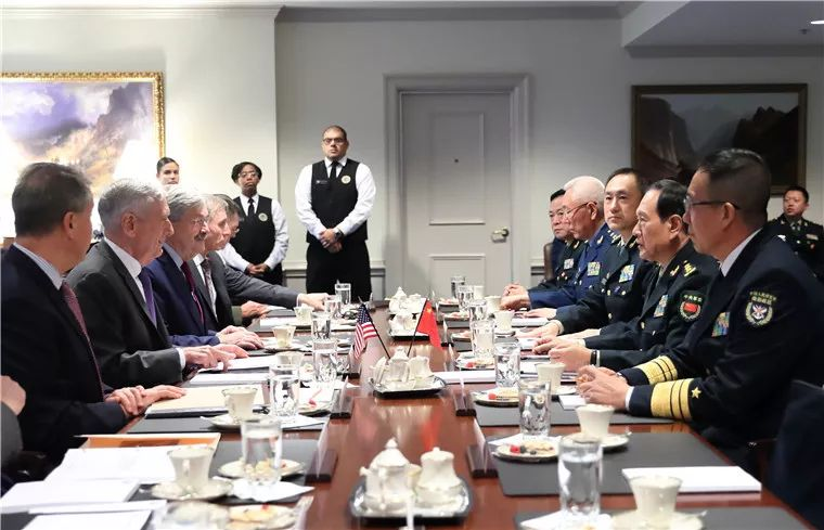 Chinese defense minister Wei Fenghe meets with Pentagon chief Mattis