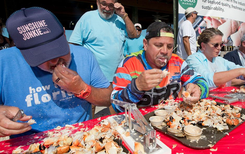 Stone crab eating contest held in Florida
