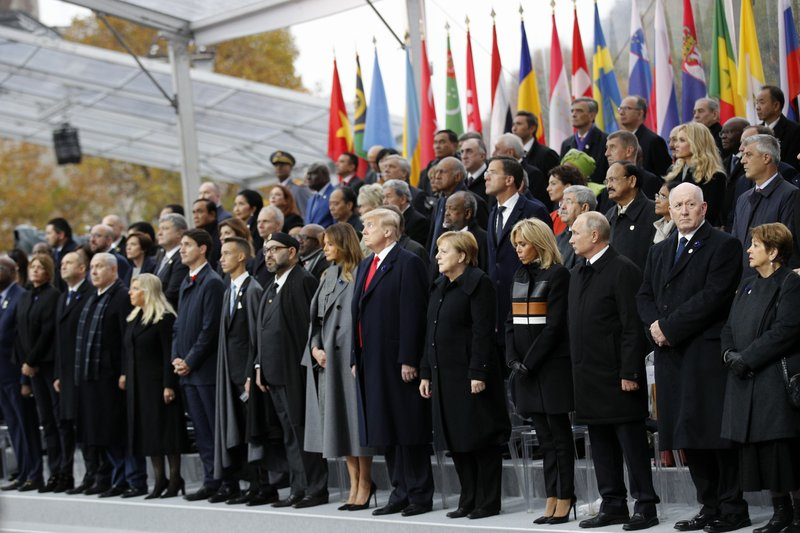 World leaders gather in Paris a century after WWI armistice