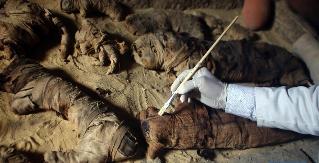 Egypt unearths 7 pharaonic tombs near capital Cairo