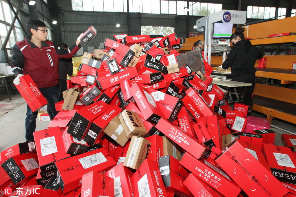 Photos: Deliveries peak after the Singles Day sales frenzy