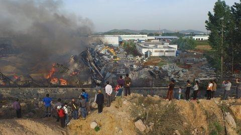 Six killed in E China factory warehouse explosion