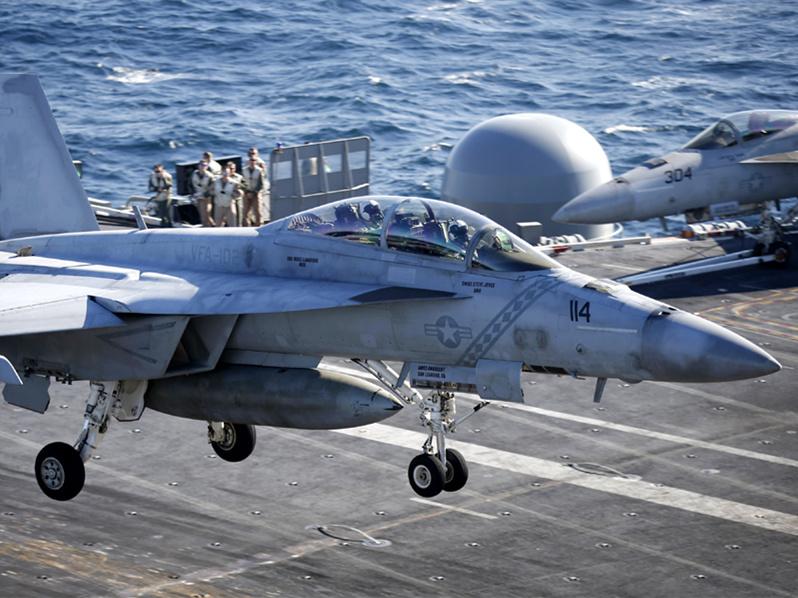 Navy warplane down in 2nd crash from US carrier in month