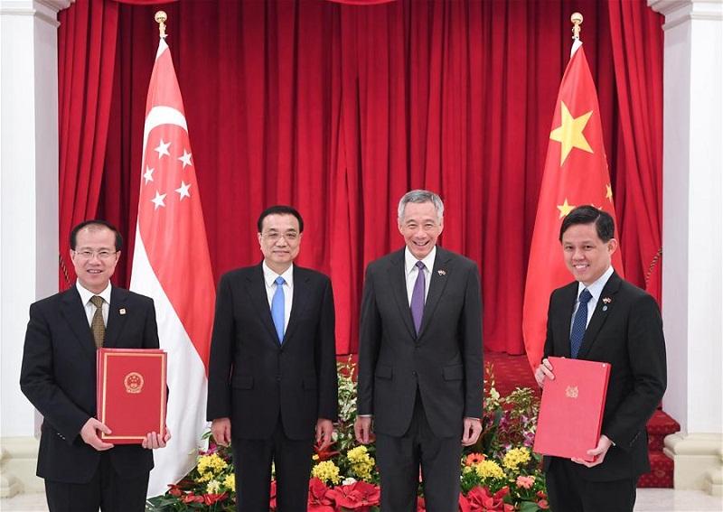 China, Singapore upgrade FTA, eye closer connectivity cooperation