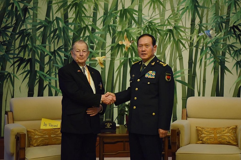 Visiting Chinese defense minister honors US Flying Tigers' veterans