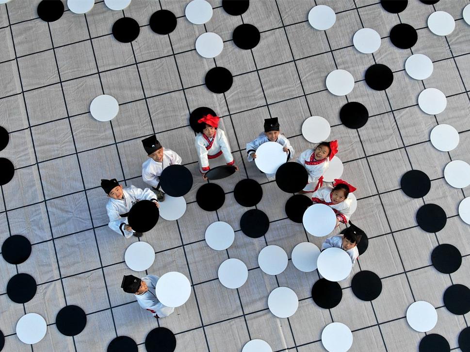 Massive Go Chess board in Henan