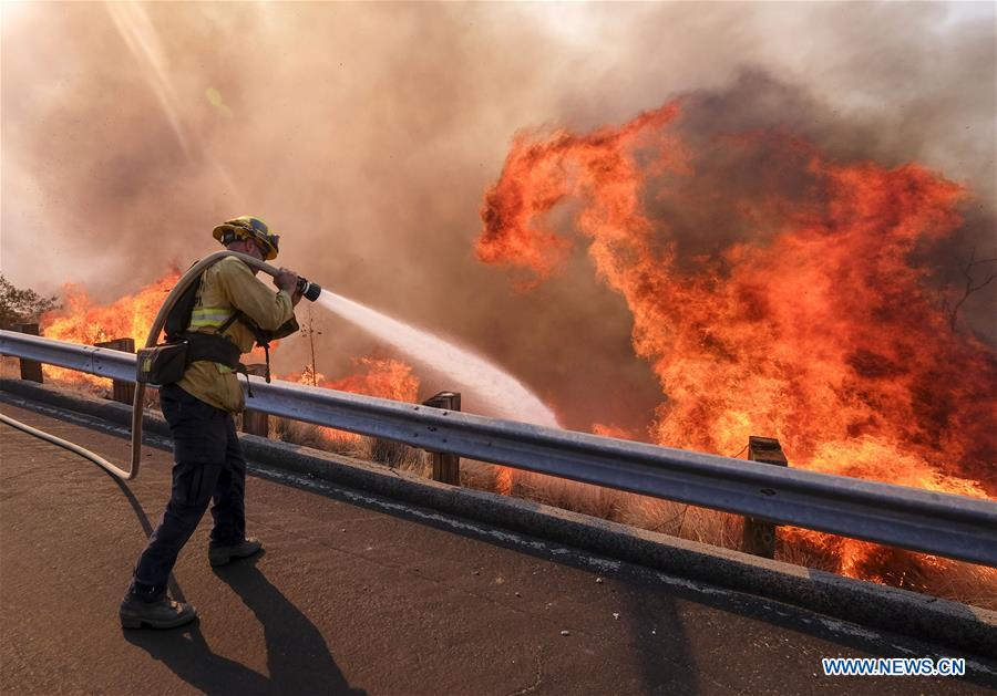 Wildfire in Southern California continues