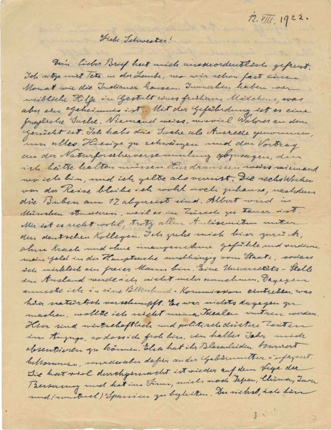 Handwritten Einstein letter auctioned off for nearly $40,000