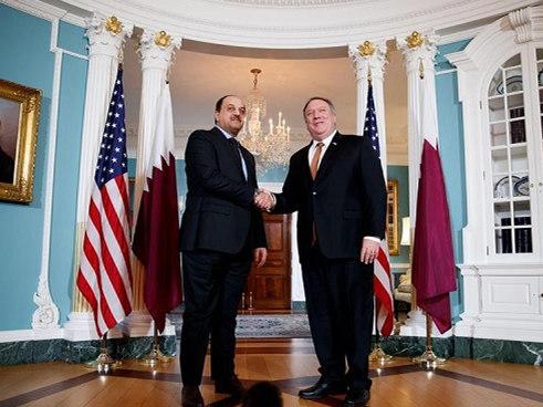 Pompeo discusses regional alliance with senior Qatari official