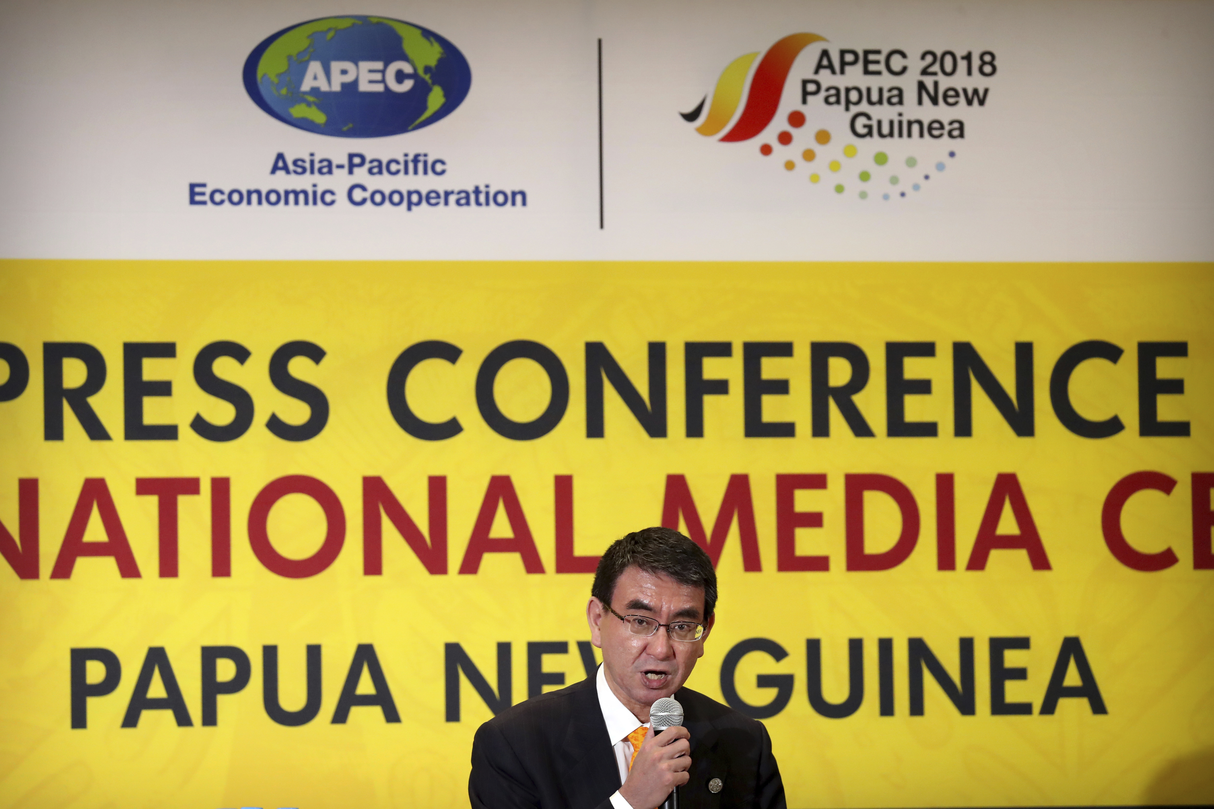 Japanese FM says willing to work with China on infrastructure in Pacific island countries