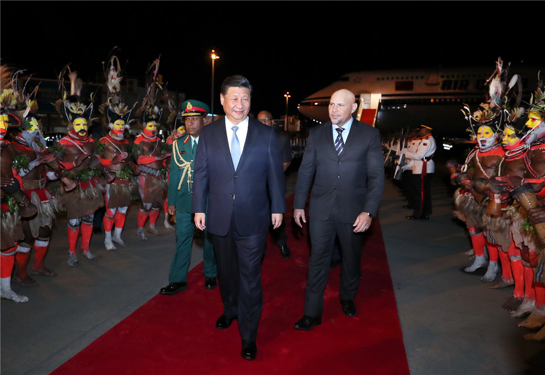 Xi Jinping arrives in PNG for state visit and APEC meetings