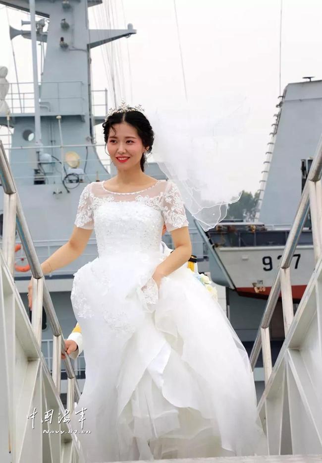 Warship wedding day