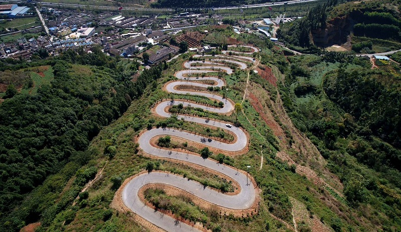 Winding road in Yunnan