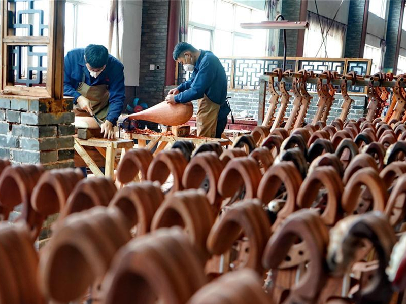 Chinese traditional musical instruments made in Hebei