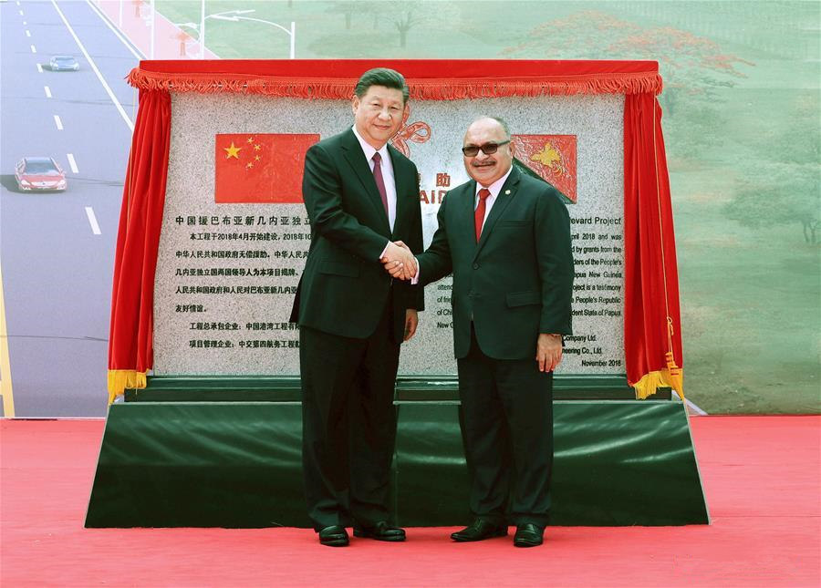 Xi, O'Neill witness hand-over of China-assisted Independence Boulevard to PNG