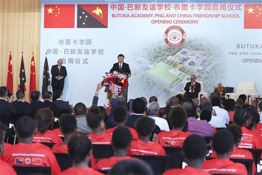 Xi, O'Neill unveil PNG, China friendship school