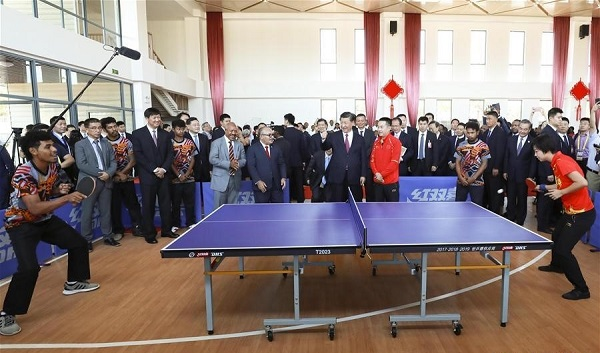 Xi watches PNG table tennis training, promoting 'sports diplomacy'
