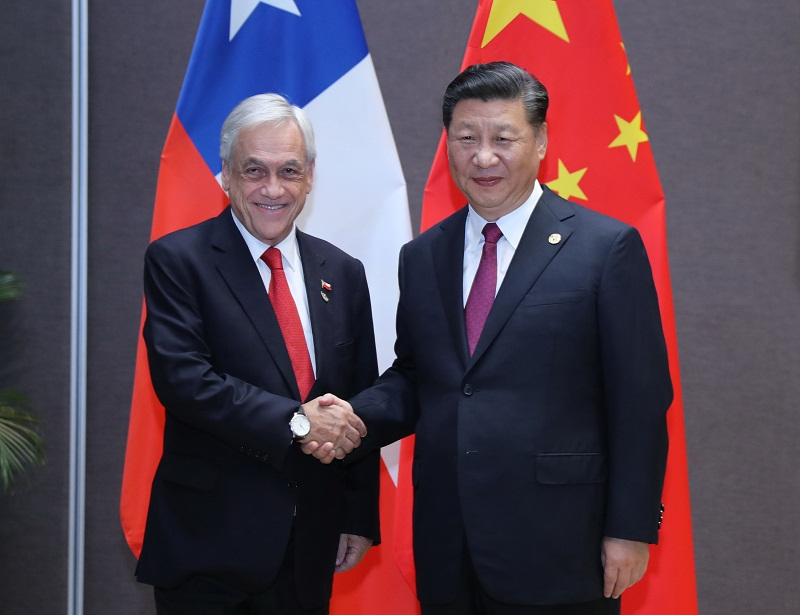 Xi meets Chilean president, pledges closer ties