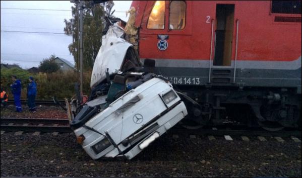 5 killed in bus-train collision in Russia's Saratov region
